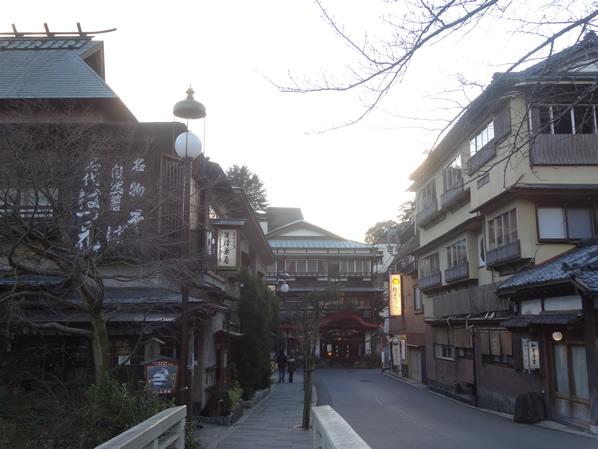 雰囲気良い箱根の街並み