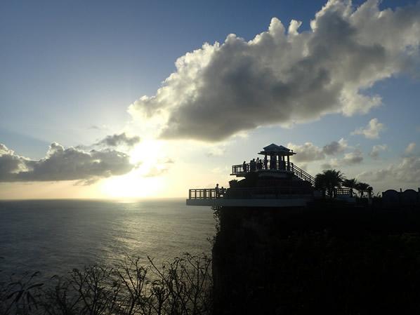 恋人岬のサンセット